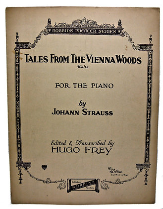 Tales from Vienna Woods by Strauss 1937