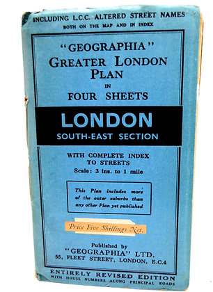 Geographia London South-East Map
