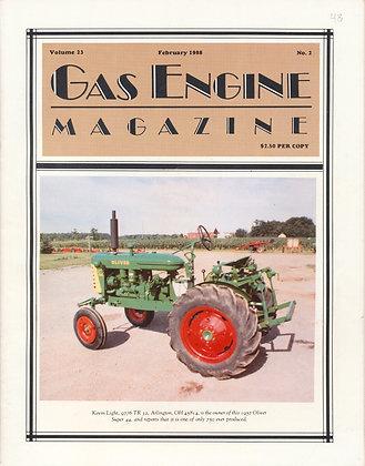 Gas Engine Mag.  February 1988