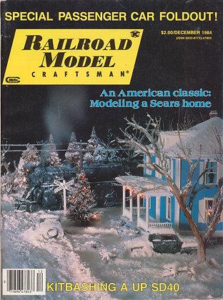 Railroad Model Craftsman, December 1984