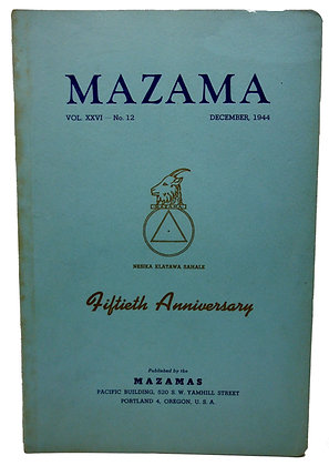 MAZAMA, Dec. 1944 (Mountaineering in the Pacific NW)