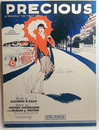 """PRECIOUS A """"Precious"""" Fox Trot Song (Ukulele) 1926"""