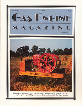 Gas Engine Mag.  August 1992
