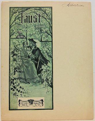 Opera FAUST, Fantasy Elegant,by Charles Gounod & J. Leybach (ca. 1895)
