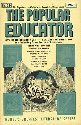 POPULAR EDUCATOR (#29, Second Year, 1940) HENRY VIII - HACKETT