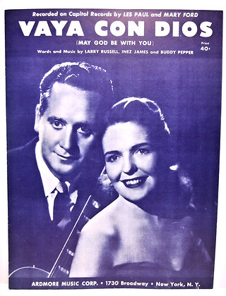 Vaya Con Dios (May God be with You) 1953