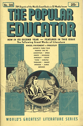 POPULAR EDUCATOR (#34, Second Year, 1940) ANGEL PAVEMENT - PRIESTLEY