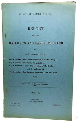 South African Railways & Harbours 1929