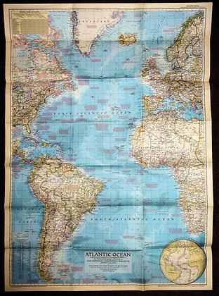 Nat. Geographic Atlantic Ocean 1955