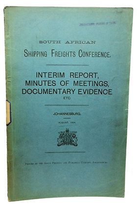 South African Shipping Freights 1904