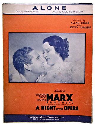 ALONE Night at the Opera Sheet Music 1935