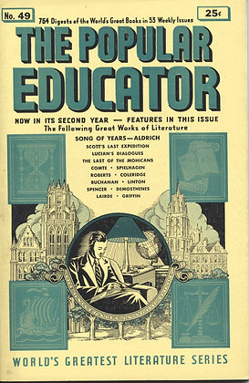 POPULAR EDUCATOR (#49, Second Year, 1940) SONG OF YEARS - ALDRICH