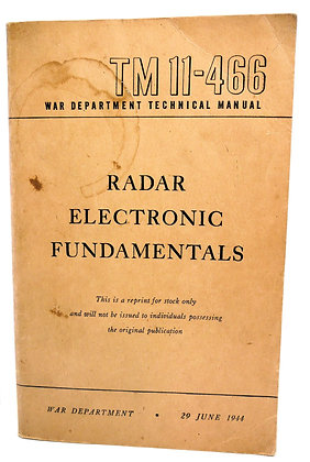 TM 11-466 Radar Electronic 1947