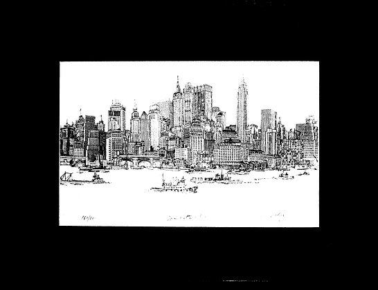 Manhattan New York 1967 Framed Art 167/200 Welling