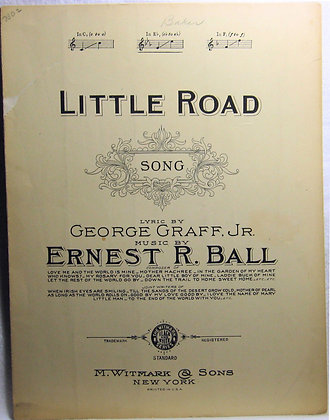 LITTLE ROAD SONG 1923