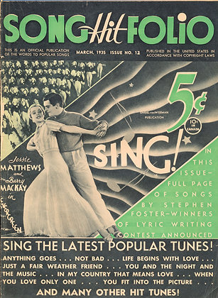 Song Hit Folio, March 1935