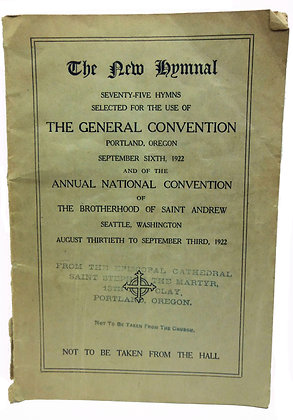 Brotherhood of Saint Andrew (Hymnal) 1922