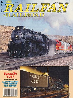 RAILFAN & RAILROAD APRIL 1992