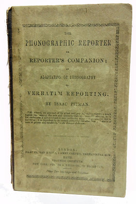 Phonographic Reporter by Pitman 1887 (Shorthand)