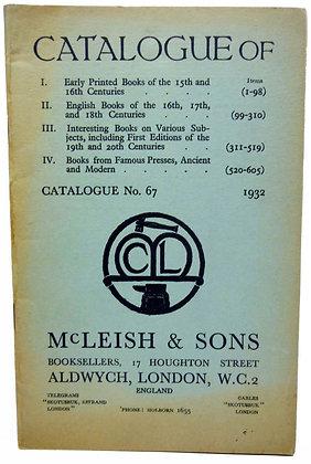 Catalogue No. 67 McLeish & Sons