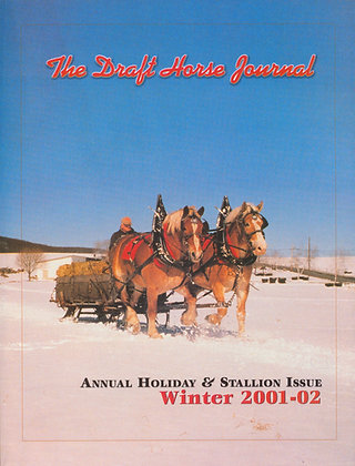 Draft Horse Journal Winter 2001-02