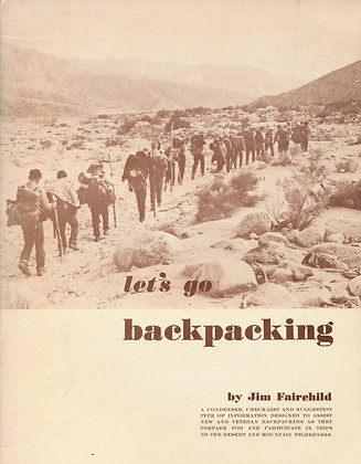 Let's go backpacking by Jim Fairchild 1964