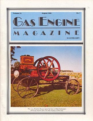 Gas Engine Mag.  August 1986