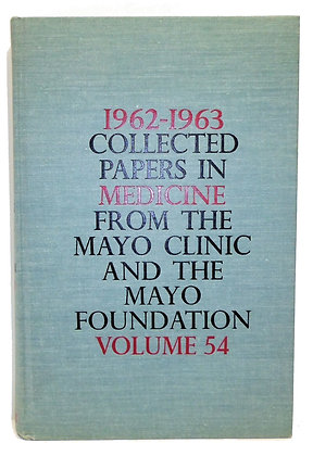 1962-1963 Collected Papers Mayo Clinic