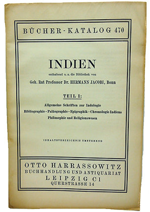Bucher Katalog 470 Indien ca. 1940 (German)