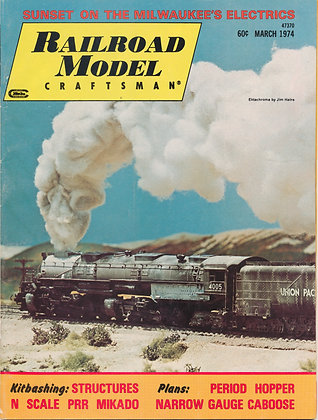 Railroad Model Craftsman, March 1974