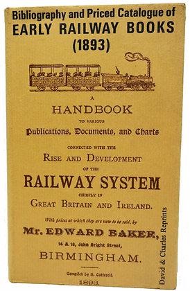 EARLY RAILWAY BOOKS Reprint of 1893