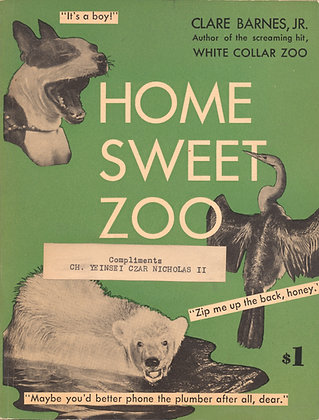 HOME SWEET ZOO (child photography book) 1950