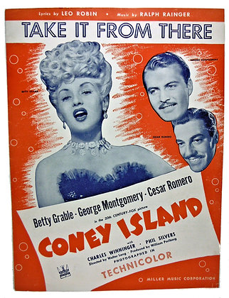 """TAKE IT FROM THERE """"Coney Island"""" Betty Grable 1942"""