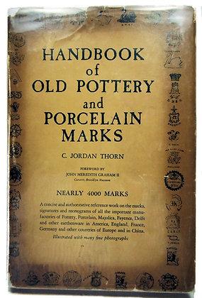 Handbook of Old Pottery & Porcelain Marks 1947