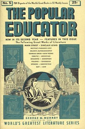 POPULAR EDUCATOR (#5, Second Year, 1939) MAIN STREET - SINCLAIR LEWIS