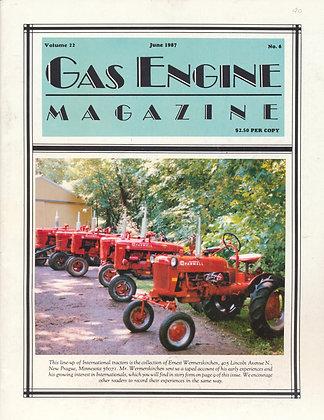Gas Engine Mag.  June 1987