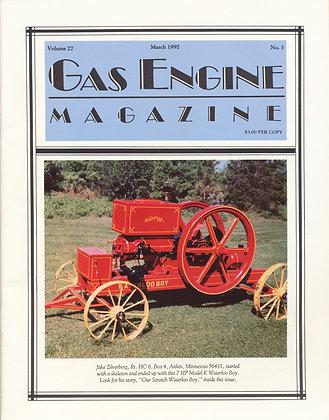 Gas Engine Mag.  March 1992