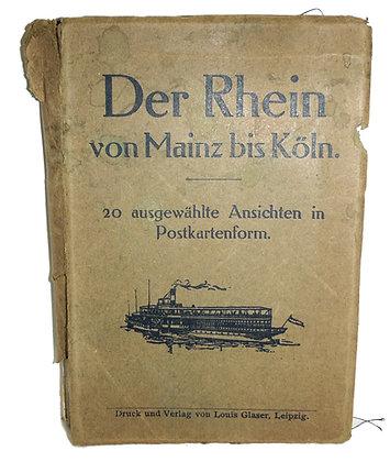 DER RHEIN Von Mainz Bis Koln (20 Color Postcards) German