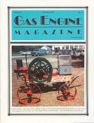 Gas Engine Mag.  November 1994