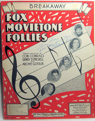 BREAKAWAY FOX MOVIETONE FOLLIES 1929