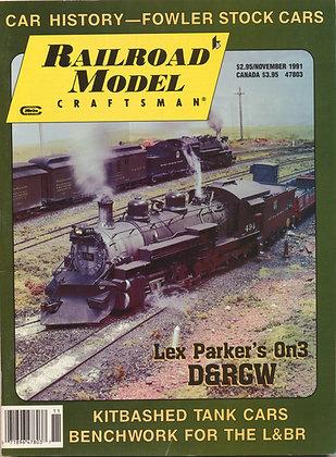 Railroad Model Craftsman, November 1991