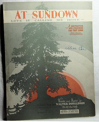 At Sundown Love is Calling Me Home 1927