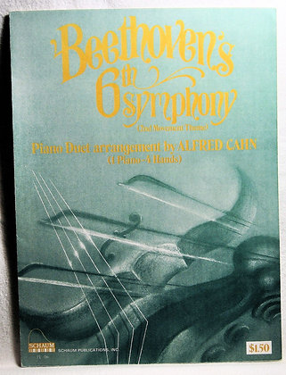 Beethoven's 6th Symphony by Alfred Cahn (Piano Duet) 1988