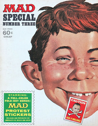 MAD (SPECIAL #3) 1970 Political Protest Stickers