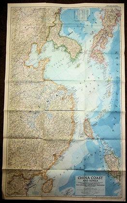 Nat. Geographic China Coast & Korea 1953