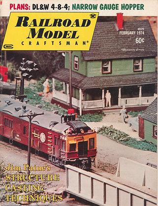 Railroad Model Craftsman, February 1974