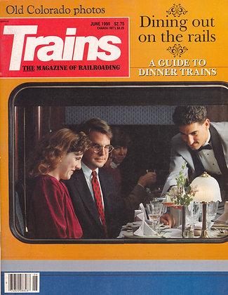 TRAINS, June 1990