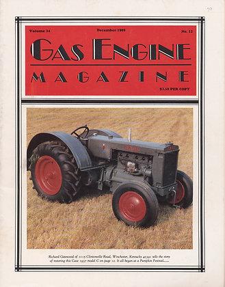Gas Engine Mag.  December 1989