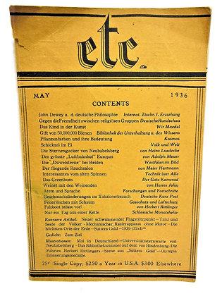 Etc. (Etcetera) Digest, May 1936 (German)