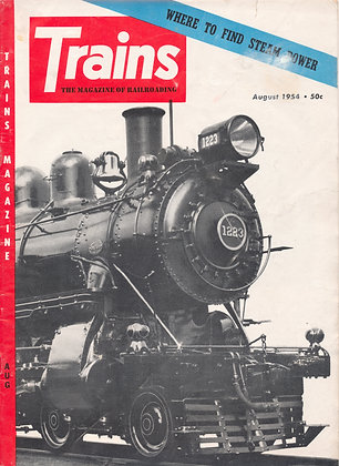 TRAINS, August 1954